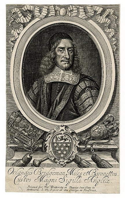 File:Portrait of Orlando Bridgeman by Robert White 1682.jpg