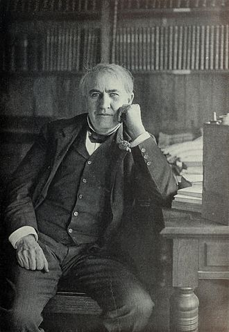 Topsy (elephant) - Thomas Alva Edison, often misassociated with the death of Topsy, pictured in around 1903