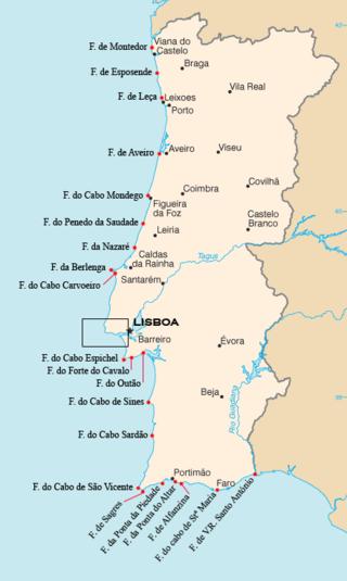 cabos de portugal mapa Faróis de Portugal – Wikipédia, a enciclopédia livre cabos de portugal mapa