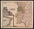Portugalliae et Algarbiae cum finitimis hispamae Regnis Castilliae Legionis Ondalusiae Extrematurae Galliciae e gronatae Meridional Tabula - qua simul littore Brailiae Meridional Americae Portugallicae Majestalis dominio subjecta.jpg