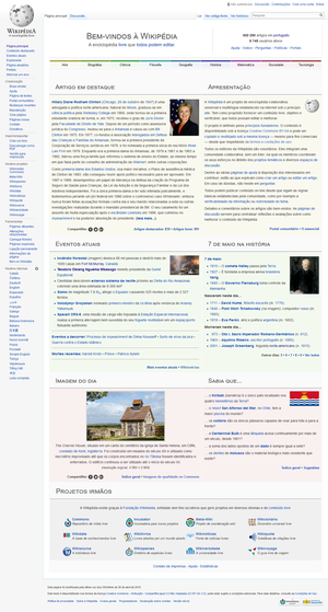 Portuguese Wikipedia - Image: Portuguese Wikipedia 6 May 2016 (UTC 3)