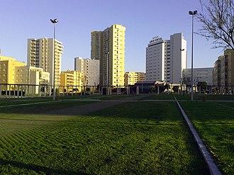 Agro-Velho - Praça Almeida Garrett and Lagoa Azul, Nova Póvoa and Vermar tower.