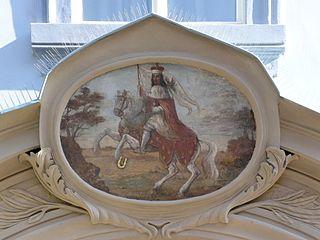 Obrázek svatého Václava na domě Nerudova 220/34
