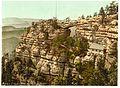 Prebischtor and the Kirkelstein, Bohemian Switzerland, Bohemia, Austro-Hungary-LCCN2002708463.jpg