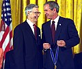 President George W. Bush Presents the Presidential Medal of Freedom Award to Fred Rogers (cropped).jpg