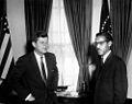 President John F. Kennedy Meets with Ambassador of Ethiopia Mikael Imru (JFKWHP-AR6379-A).jpg