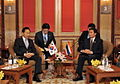 President Lee Myung-bak meeting with the Thailand's Prime Minister Abhisit Vejjajiva in in Thailand.jpg