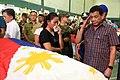 President Rodrigo R. Duterte salutes a soldier slain in an Abu Sayyaf encounter in Sulu 04.jpg