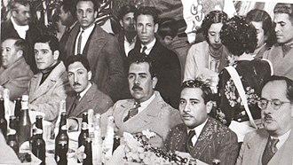 Gustavo Díaz Ordaz - The young Díaz Ordaz in 1938, behind President Lázaro Cárdenas.