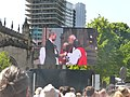 Prince William and The Dean at Manchester Cathedral.jpg