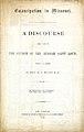 "Printed sermon of William Greenleaf Eliot titled ""Emancipation in Missouri,"" July 5, 1863.jpg"