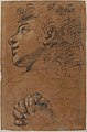 Profile Head of a Youth Looking to Upper Left, and Study of Clasped Hands MET 19.76.16.jpg