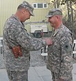 Promotion to Lieutenant Colonel in Afghanistan DVIDS343812.jpg