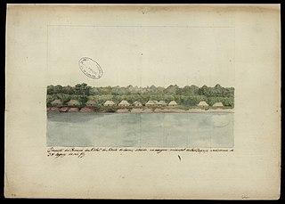 Prospecto da Povoação de N.Senhora do Monte do Carmo, situada na margem ocidental do Rio Branco, na distância de 38 léguas da sua foz