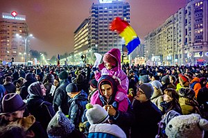 Protest against corruption - Bucharest 2017 - Piata Victoriei - 2