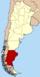 Lage der Provinz Santa Cruz