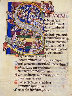 Psalm 136 in the St. Albans Psalter