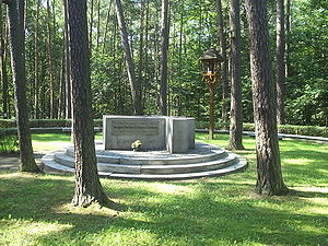 Lituanica - Monument marking the crash site near Pszczelnik in Poland