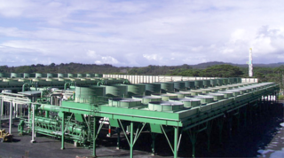 Geothermal power plant on the island of Hawaii