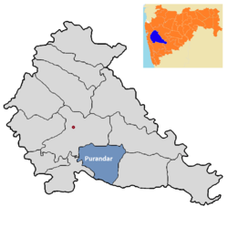 Purandar tehsil in Pune district.png