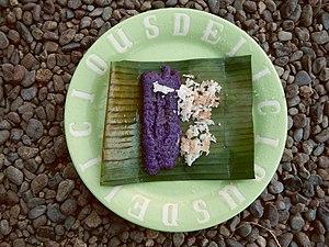 Puttu - Puto bumbong (Philippines)