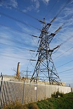 Pylon, Kingsnorth Power Station - geograph.org.uk - 1604927.jpg