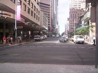 Queen Street, Brisbane - View from Queen Street Mall