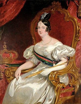 Maria II of Portugal - Image: Queen Maria II by John Simpson