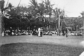 Queensland State Archives 5767 Hon J C Peterson Home Secretary and party with residents of Darnley Island Torres Strait Island June 1931.png