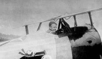 95th Aero Squadron - 1st Lieutenant Quentin Roosevelt in his Nieuport 28