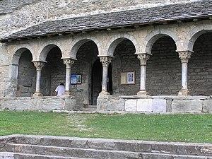 Queralbs - Portico of the Romanesque Church in Queralbs