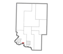 Locație în județul Dickinson