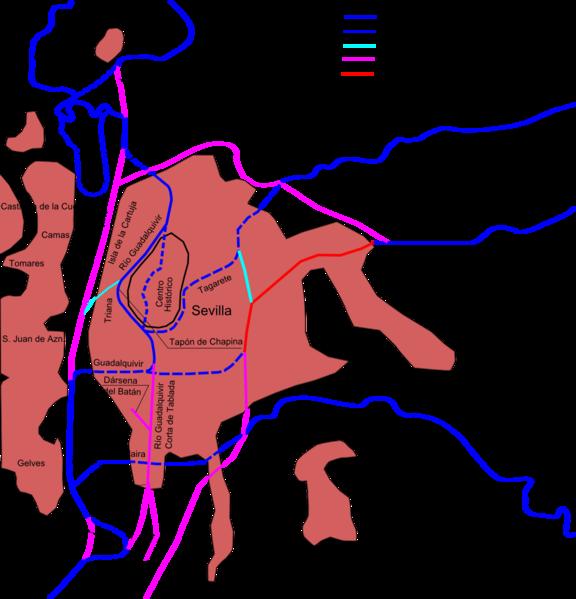 File:Río Guadalquivir en Sevilla y sus cambios.png