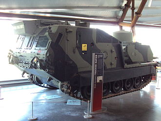 Variants of the M113 armored personnel carrier - Tracked Rapier at RAF Museum Cosford.