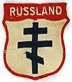 ROA (Russian Liberation Army) sleeve badge. Russian Orthodox Cross.jpg