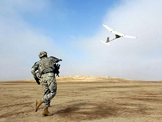 AeroVironment RQ-11 Raven - The Raven is launched.