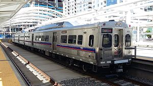 RTD Bus & Rail - Image: RTD No. 4018 A Line train, USTH