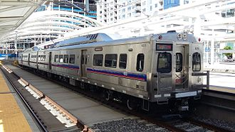 Regional Transportation District - RTD A Line train at Denver Union Station.