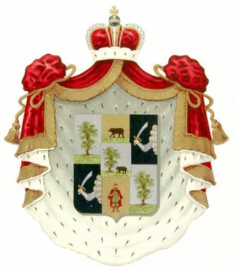 Romodanovsky family - Princely arms of the family