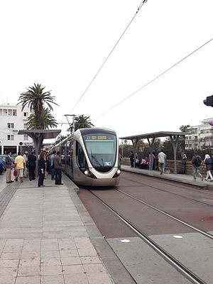 Rabat-Salé tramway - Image: Rabat Salé tram