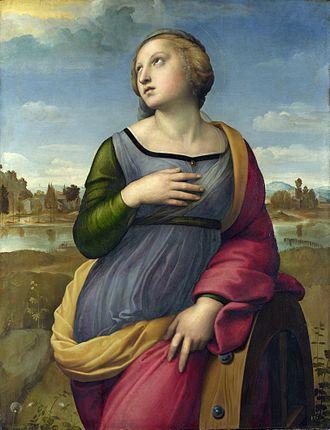 Saint Catherine of Alexandria (Raphael) - Image: Raffael 020