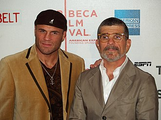 Redbelt - Randy Couture and David Mamet at the premiere of Redbelt, at the 2008 Tribeca Film Festival.