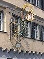 Ravensburg Marktstraße Wirtshausschild Drei Könige von Osten.jpg