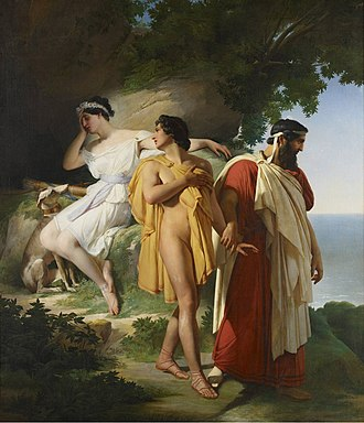 Eucharis (fiction) - The Farewell of Telemachus and Eucharis by Raymond Auguste Quinsac Monvoisin