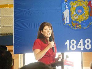 Rebecca Kleefisch - Rebecca Kleefisch at a Marquette University political rally for Mitt Romney, September 2012.