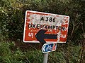 Recycled sign, Petrockstowe station - geograph.org.uk - 569705.jpg