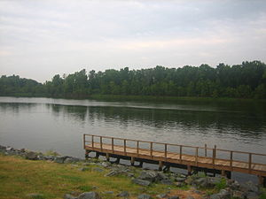 Bossier City, Louisiana - The Red River from the Arthur Teague Parkway in Bossier City