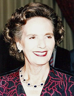Queen Anne of Romania - Anne at the Romanian French Community gala in Paris, 1991
