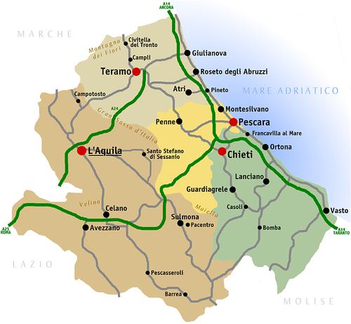 abruzzen karte Abruzzen – Reiseführer auf Wikivoyage