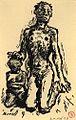 René Beeh, Femme avec un enfant.jpg